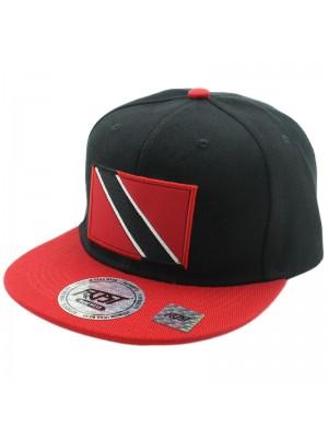 Trinidad & Tobago Flag Snap Back - Black & Red