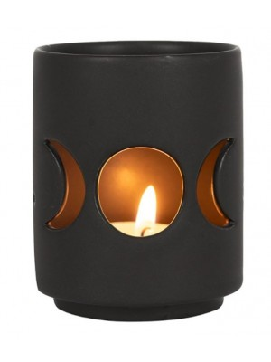 Wholesale Small Black Triple Moon Cut Out Tealight Holder