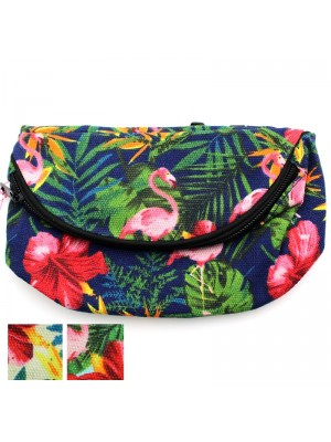 Tropical Design Bum Bag - Assorted Colours