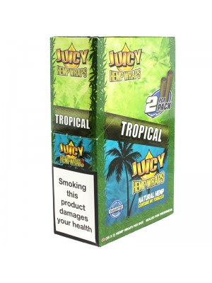 Wholesale Juicy Jay's Double Hemp Wraps - Tropical