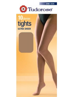 Tudorose 10 Denier Ultra Sheer Tights (One Size) - American Tan