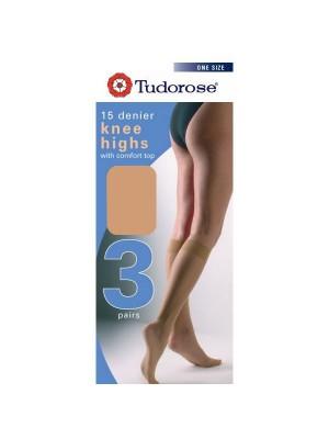 Tudorose 15 Denier Knee Highs (One Size) - Bamboo