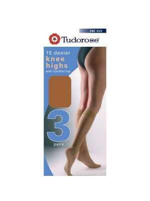 Tudorose 15 Denier Knee Highs (One Size) - Chiffon