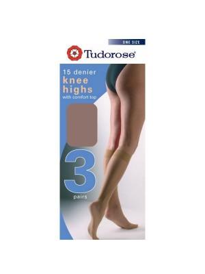 Tudorose 15 Denier Knee Highs (One Size) - Diamond