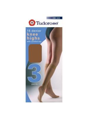 Tudorose 15 Denier Knee Highs (One Size) - Natural