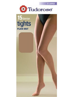 Tudorose 15 Denier Plain Knit Tights (X-Large) - Navy
