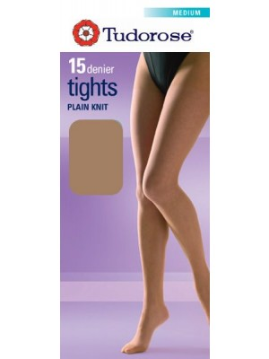 Tudorose 15 Denier Plain Knit Tights (Medium)