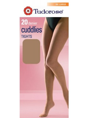 Tudorose 20 Denier Cuddlies Tights With Double Width Gusset (XX-Large)
