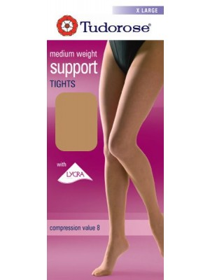 Tudorose Support Tights With Full Panel Gusset (X-Large)