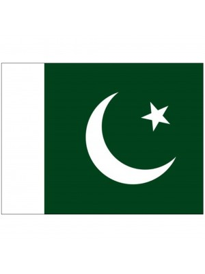 "Twin Pack Pakistan Car Flags (15""x10"")"