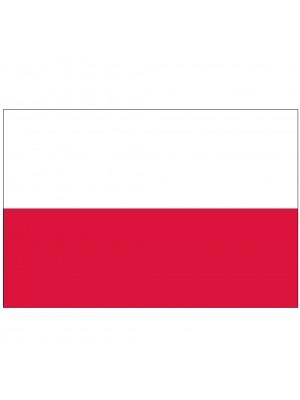 """Twin Pack Poland Car Flags (15""""x10"""")"""
