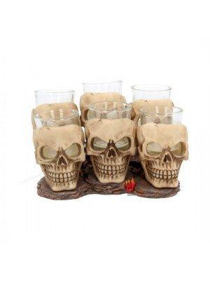 Six Shooter Skulls Shot Glass Set-10 cm