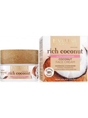 Eveline 100% Organic Rich Coconut Ultra Nourishing Face Cream - 50ml