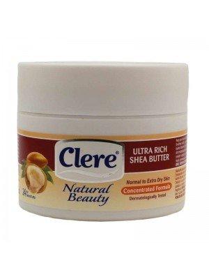 Clere Natural Beauty Ultra Rich Shea Butter Body Cream - 250ml