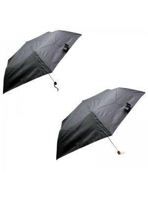 Unisex Black Compact Umbrella