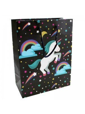 Unicorn Rainbow and Stars Design Gift Bag (18x23x9cm)