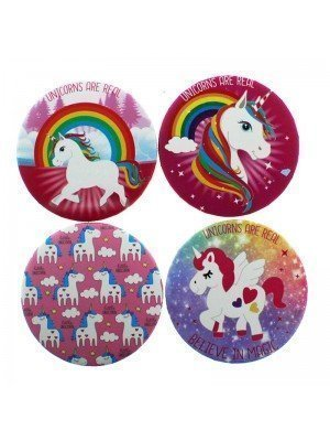 Wholesale Unicorn Design Compact Mirrors - Assorted Designs