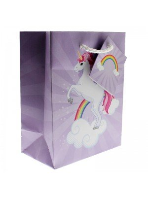 Unicorn Design Gift Bag - Purple (11x14x6cm)