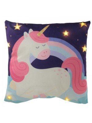 Wholesale Enchanted Rainbow Unicorn LED Cushion
