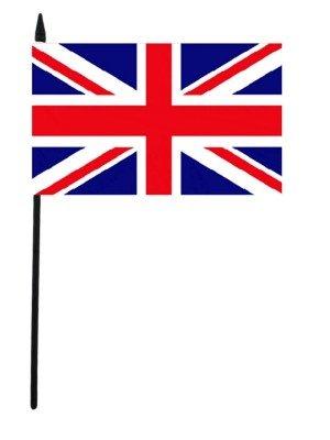 "Union Jack Hand Flag - 6"" x 4"""