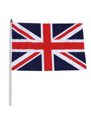 "Wholesale Union Jack Hand Flag - 12"" x 18"""