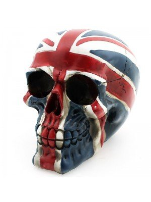 Wholesale Union Jack Skull Ornament - 15cm