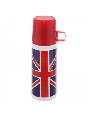 Union Jack Flag Stainless Steel Flask - 350ml