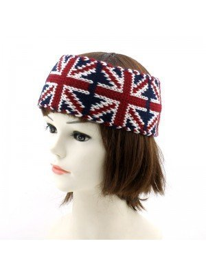 Union Jack Knitted Polyester Headband