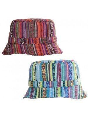 Wholesale Unisex Aztec Bucket Hat - Assorted Colours
