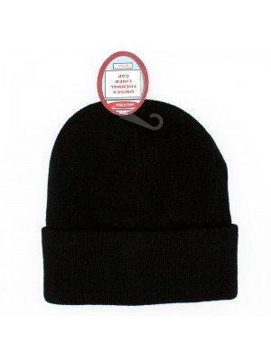Unisex Thermal Winter Beanie Hats - Black