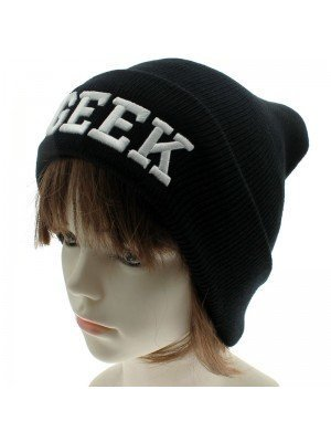 Unisex Geek Beanie Hat - Black