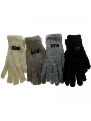 Unisex Thinsulate Knitted Gloves - Dark Assorted Colours