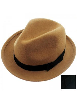 Unisex Trilby With Black Band - Assorted Colours & Sizes