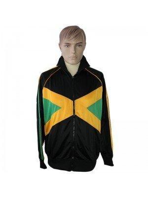 Unisex Black Jamaica Design Tracksuit