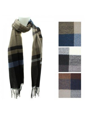 Unisex Checkered Design Scarves - Assorted Colours