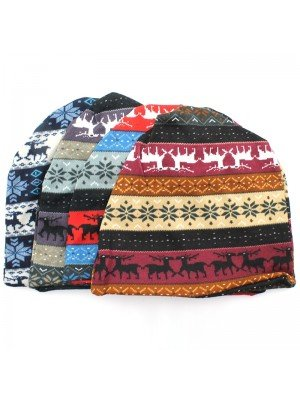 Unisex Christmas Theme 2 in 1 Hat and Neck Warmer - Assorted Colours