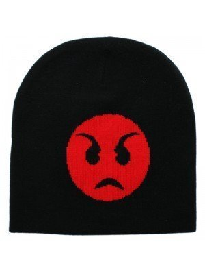 Unisex Emoji Beanie Hat - Angry Face