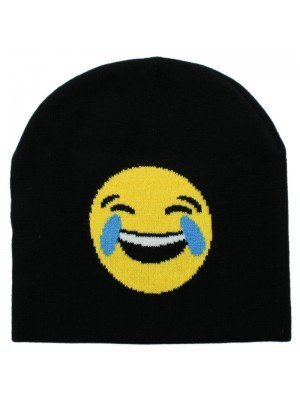 Unisex Emoji Beanie Hat - Crying with Laughter