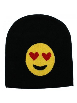 Unisex Emoji Beanie Hat - Eyes with Heart