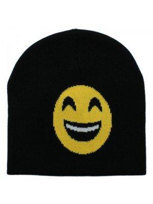 Unisex Emoji Beanie Hat - Smile