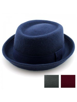 Unisex Felt Pork Pie Trilby - Assorted Colours