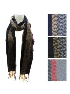 Unisex Herringbone Design Scarves - Assorted Colours