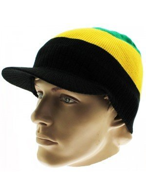 Unisex Jamaica Colour Stripes Peak Hat