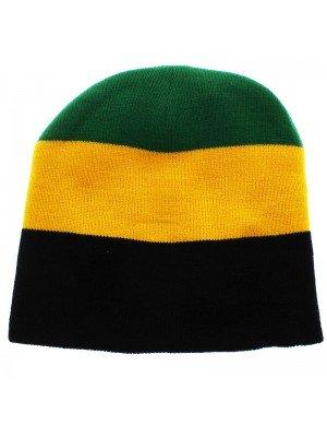 Unisex Knitted Jamaica Beanie Hat