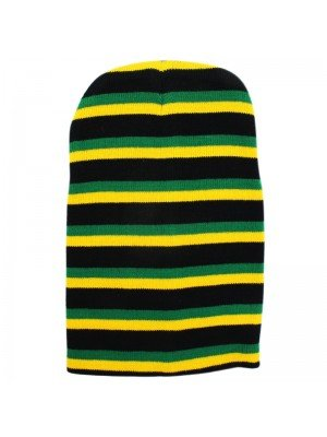 Unisex Knitted Jamaica Design Long Beanie Hat
