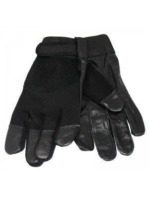 Unisex Leather & Spandex Nylon Driving / Motor Bikers Gloves - Dozen