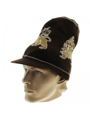 Unisex Lion of Judah Long Peak Hat - Brown
