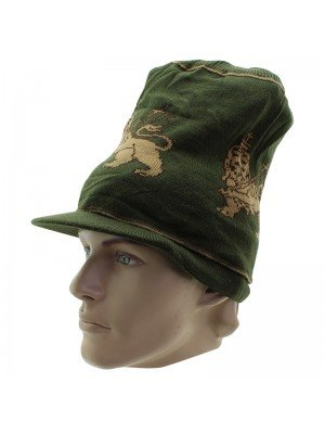 Unisex Lion of Judah Long Peak Hat - Khaki Green