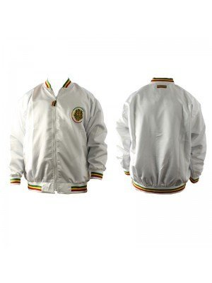 Unisex Lion Print Rasta Design Jacket - White (Assorted