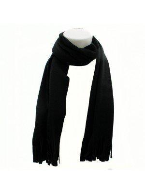 Unisex Polar Fleece Scarf - Black